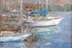 Sunlit Boats 10x10  Sold